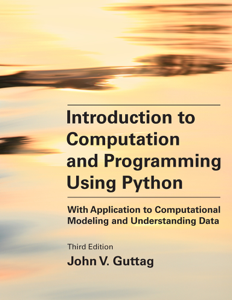 Introduction to Computation and Programming Using Python, third edition Boekomslag