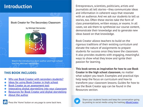 Book Creator for the High School classroom on Apple Books
