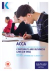 ACCA - Corporate And Business Law  England LW  ENG
