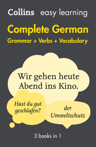 Easy Learning German Complete Grammar, Verbs and Vocabulary (3 books in 1) Libro Cover