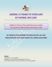 Marathi E-Book Adding 15 Years To The Wellbeing Of Our Indian Community In USA And Everyone Else In USA