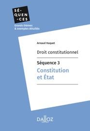 Droit Constitutionnel S Quence 3 Constitution Et Tat