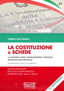 La Costituzione a Schede Copertina del libro