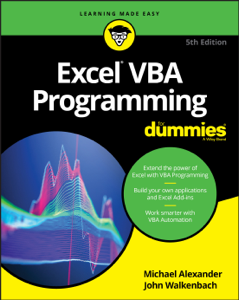 Excel VBA Programming For Dummies Book Cover