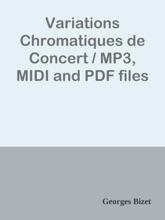 Variations Chromatiques de Concert / MP3, MIDI and PDF files