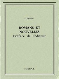Romans Et Nouvelles Pr Face De L Diteur