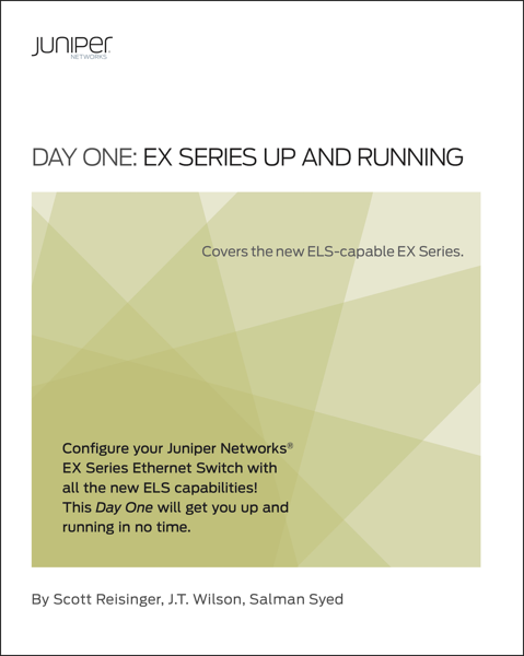Day One: EX Series Up and Running