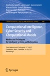 Computational Intelligence Cyber Security And Computational Models Models And Techniques For Intelligent Systems And Automation