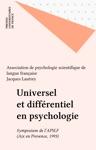 Universel Et Diffrentiel En Psychologie