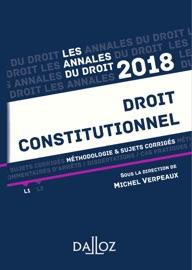 Droit Constitutionnel 2018 M Thodologie Sujets Corrig S