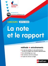 La note et le rapport - Catégorie A et B - Intégrer la fonction publique - 2019/2020