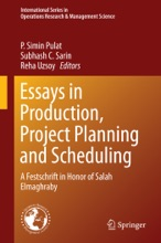 Essays In Production, Project Planning And Scheduling