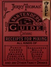 Jerry Thomas Bartenders Guide