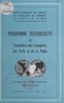 Programme Revendicatif Des Travailleurs Des Transports Des Ports Et De La Pche