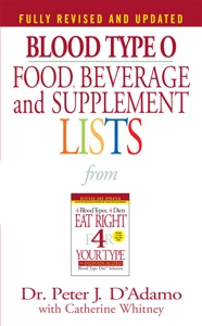 Blood Type O Food, Beverage and Supplement Lists Book Cover