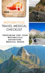 Motorcycle Travel Medical Checklist Preparing For Your Motorcycle Adventure Medical Needs
