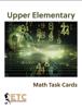 Upper Elementary Advanced Math Task Cards - ETC Montessori