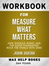 Measure What Matters How Google Bono And The Gates Foundation Rock The World With OKRs By John Doerr Max Help Workbooks