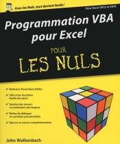 Programmation VBA pour Excel 2013 et 2016 pour les Nuls grand format