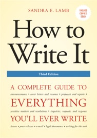 How To Write It Third Edition