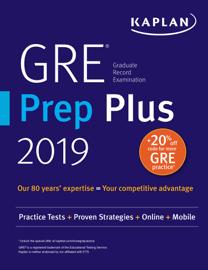 GRE Prep Plus 2019 book