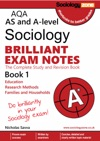 AQA Sociology Brilliant Exam Notes Book 1  Year 1 AS And A-level