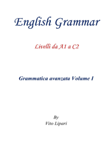 English Grammar Vol. 1 Copertina del libro