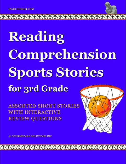 reading comprehension sports stories for 3rd grade by courseware solutions inc on ibooks. Black Bedroom Furniture Sets. Home Design Ideas
