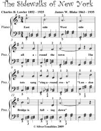 Sidewalks of New York Easy Piano Sheet Music