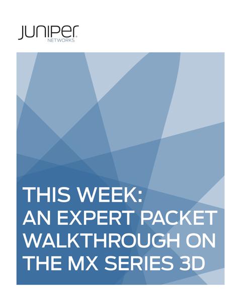 This Week: An Expert Packet Walkthrough on the MX Series 3D