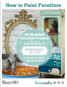 How to Paint Furniture: 19 Upcycled Furniture Projects free eBook from DecoArt Book Review