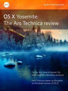 OS X 10.10 Yosemite: The Ars Technica Review ebook