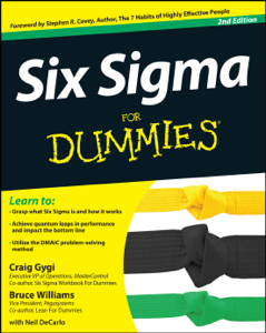Six Sigma For Dummies Libro Cover