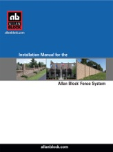 Installation Manual For Allan Block Fence Post And Panel System