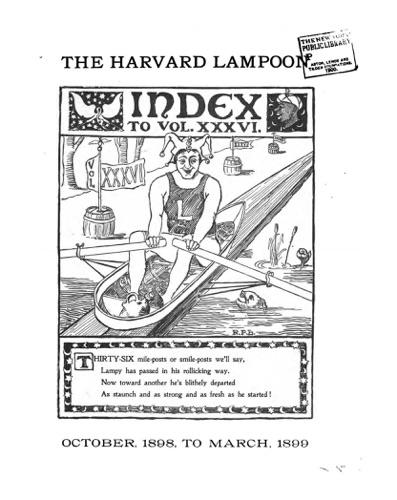 The Harvard Lampoon - Index to Vol. XXXVI - The Harvard Lampoon - The Harvard Lampoon