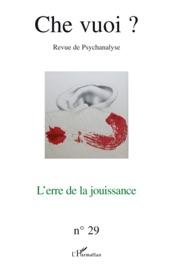 Che Vuoi Revue De Psychanalyse