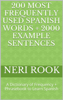Neri Rook - 200 Most Frequently Used Spanish Words + 2000 Example Sentences: A Dictionary of Frequency + Phrasebook to Learn Spanish artwork