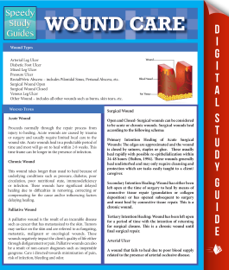Wound Care (Speedy Study Guides) book