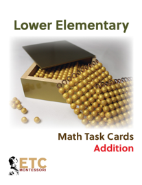 Lower Elementary Math Task Cards: Addition