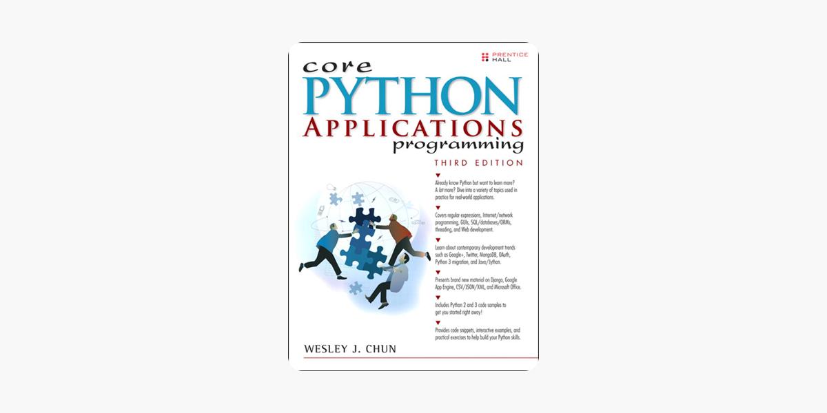 Core Python Applications Programming, 3/e