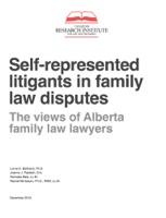 Self-represented litigants in family law disputes