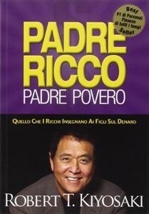 Padre ricco padre povero di Robert T. Kiyosaki Copertina del libro