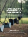 Opportunity Responsibility And Security A Consensus Plan For Reducing Poverty And Restoring The American Dream