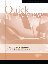 Miller and Friedenthal's Sum and Substance Quick Review on Civil Procedure, 7th PDF Download