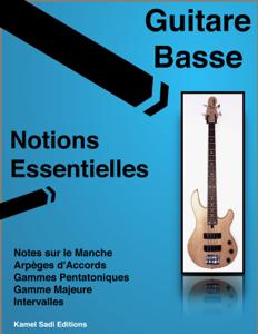 Guitare Basse Notions Essentielles La couverture du livre martien