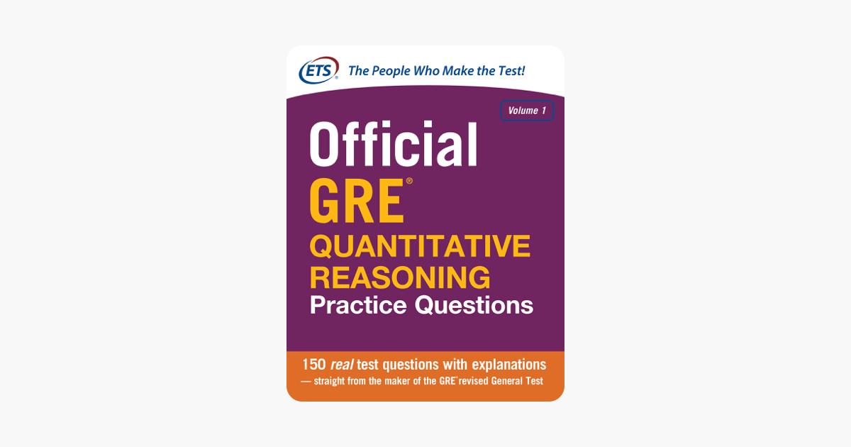 Official GRE Quantitative Reasoning Practice Questions