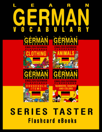 Learn German Vocabulary: Series Taster - English/German Flashcards