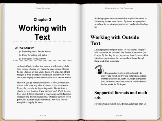 e-book IBooks Author For Dummies