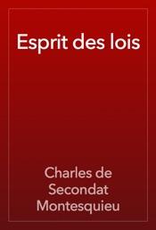 Download Esprit des lois