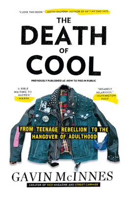 The Death of Cool - Gavin McInnes book